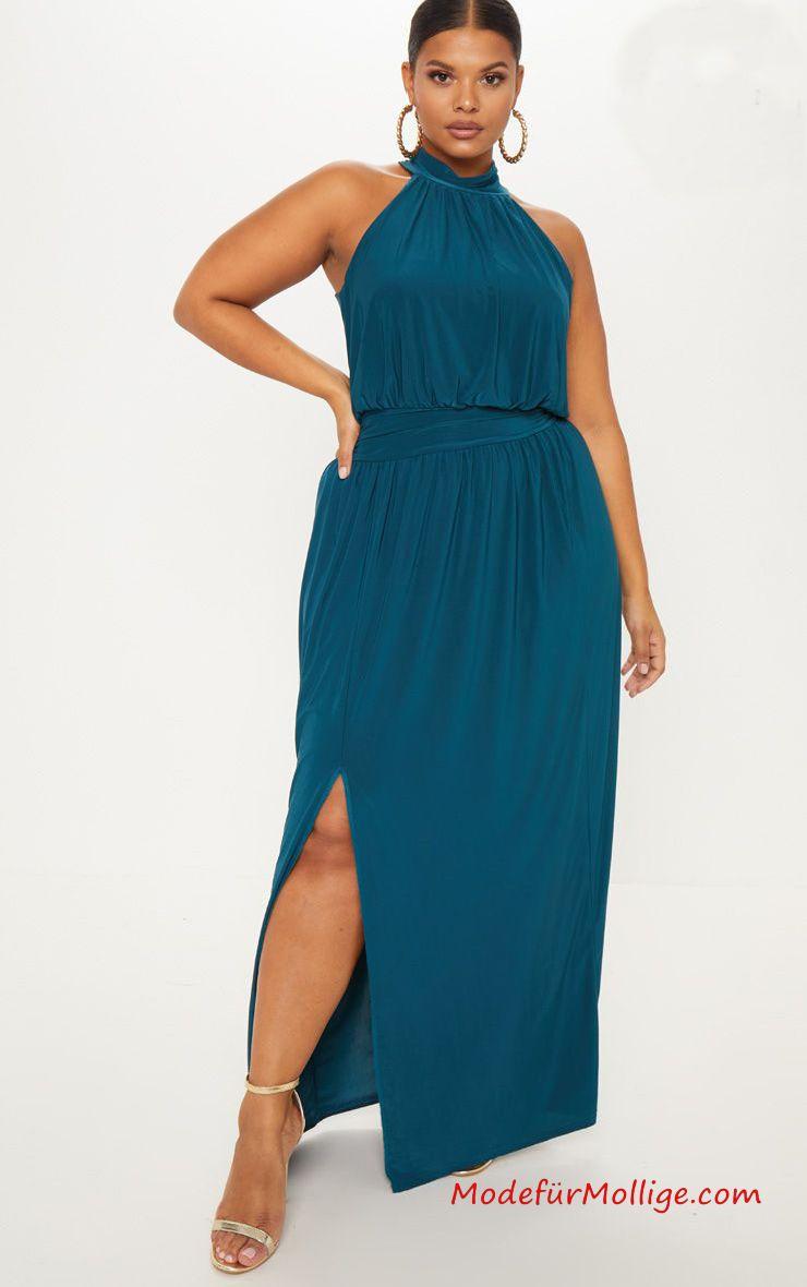 festliche kleider für mollige; große größe smaragd grünes