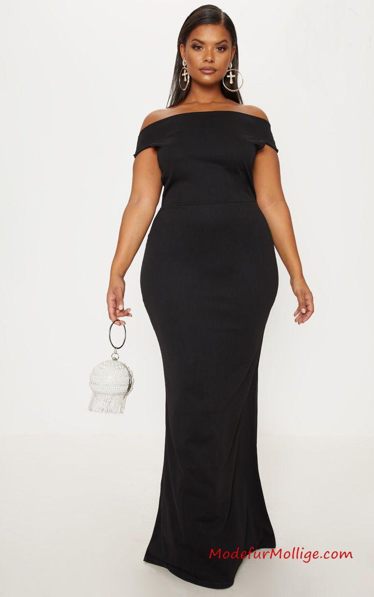 festliche kleider für mollige; große größe schwarzes