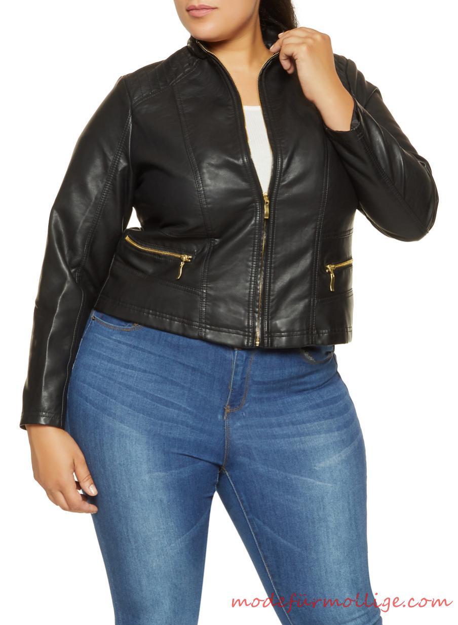 Große Größe Anorak Jacke mit Kapuze Mode für mollige