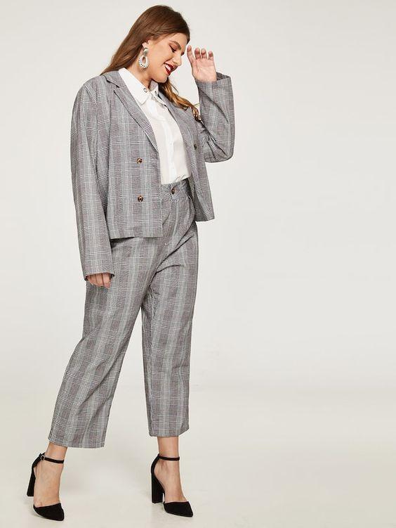 Business kleidung damen große größen all tags outfit und Büro für mollige Frauen