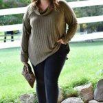 Mode für Mollige Herbst Outfit Idee