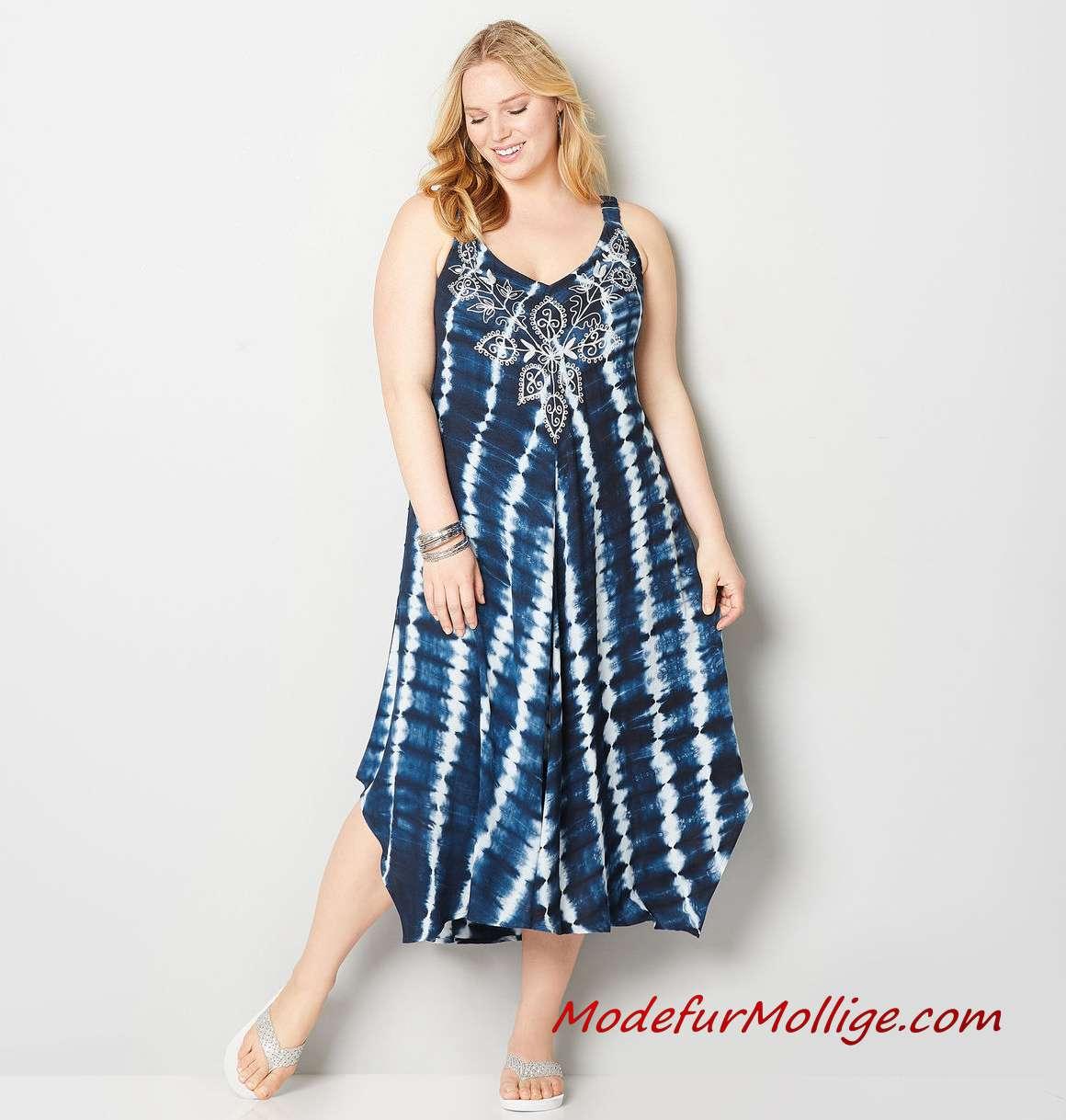16 A-Linie Kleid; Sommerkleider für Mollige Frauen  Mode für