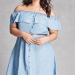 Junge Mode in Großen Größen – Kurze Jean Kleid