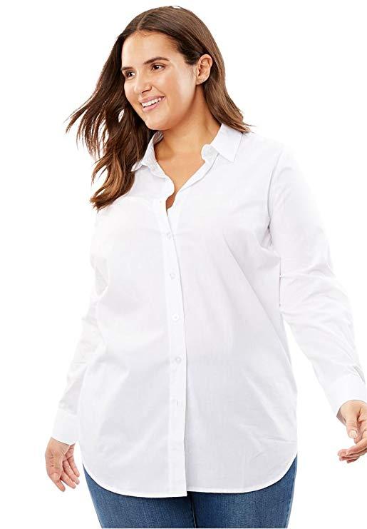 weißes Hemd für mollige damen