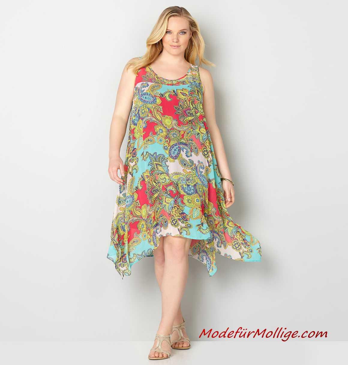 wholesale dealer d9897 bcd59 Große Größe Chiffon Sommerkleider für Mollige Frauen | Mode ...