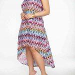Große Größe Multi Vokuhila Kleid