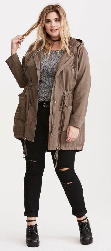 Große Größe Oberbekleidung Jacken und Mänteln