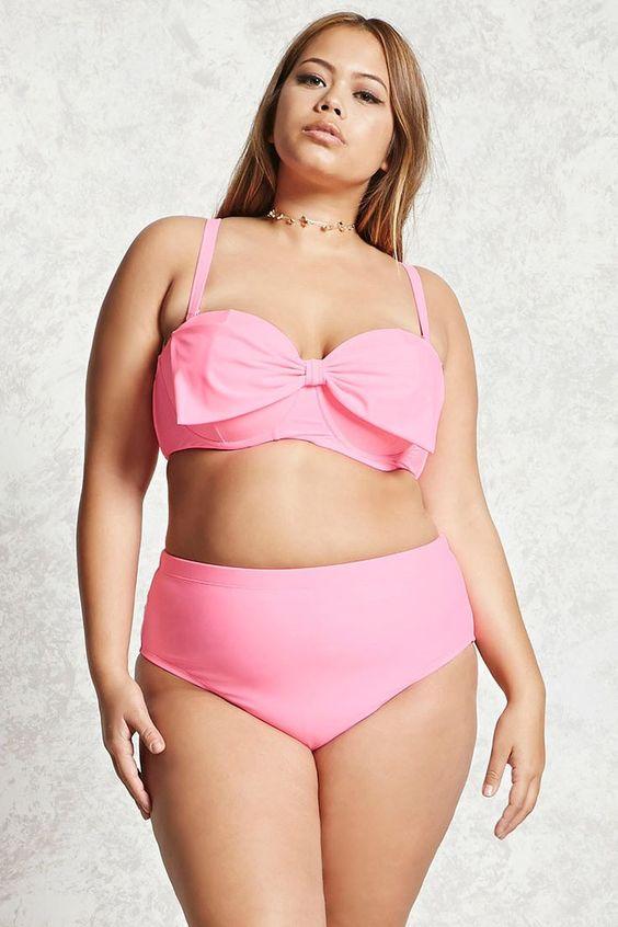 Große Größe Rose Bikini