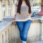 Herbst jeans Outfit – große Größe Mode für Frauen