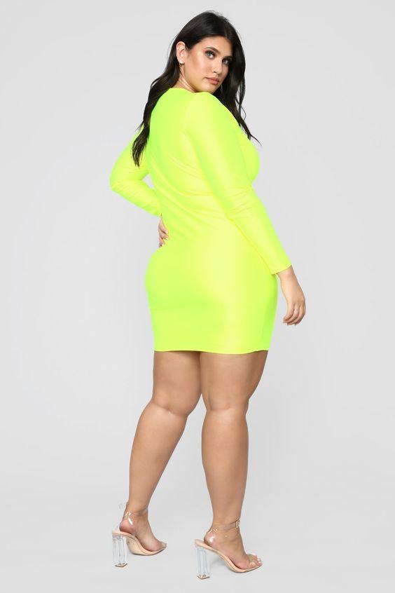 Modisch mit Neon Party Outfits für Frauen in Große Größe Kurz