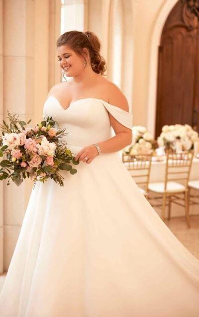 Große Größe trägerloses Hochzeitskleid