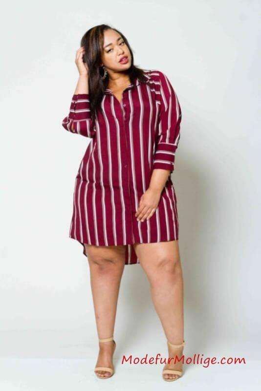 Styling Tipps für Mollige Frauen - Blusa Rayas Hombros Descubiertos