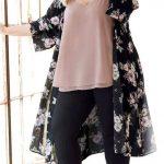 Styling Tipps für Mollige Frauen - Winter Kimono Outfit in Übergröße