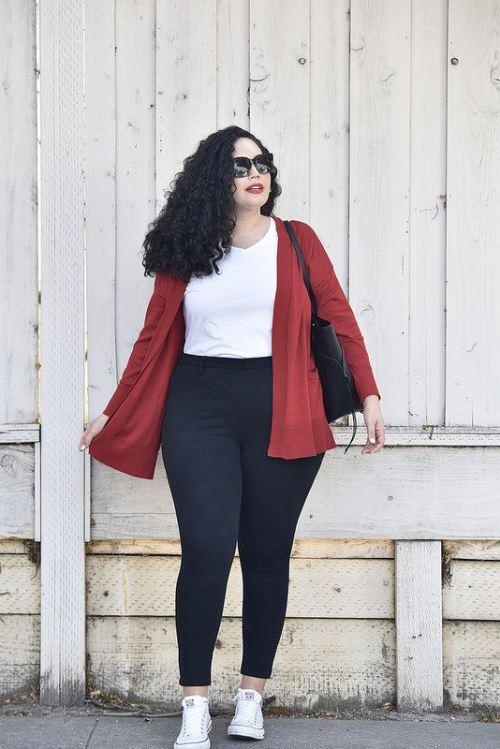 lässige Winter Outfits für große Größen