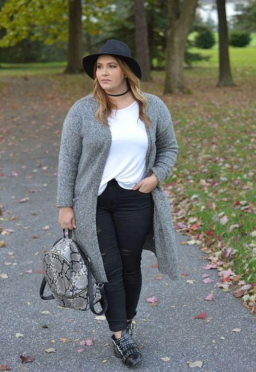 große Größe Frauen outfits für den winter
