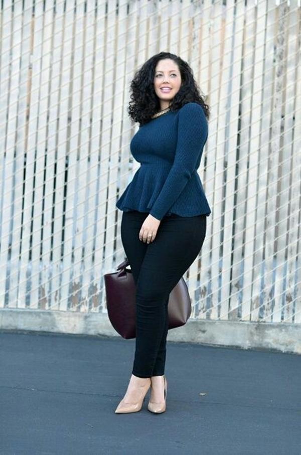 Büro Outfit Ideen für Große Größe Frauen