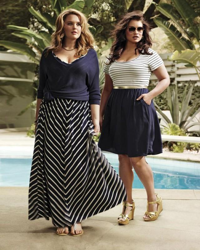 Große Größe Lang Rock Outfits für Mollige Frauen; Lange Röcke in Maxi Stil