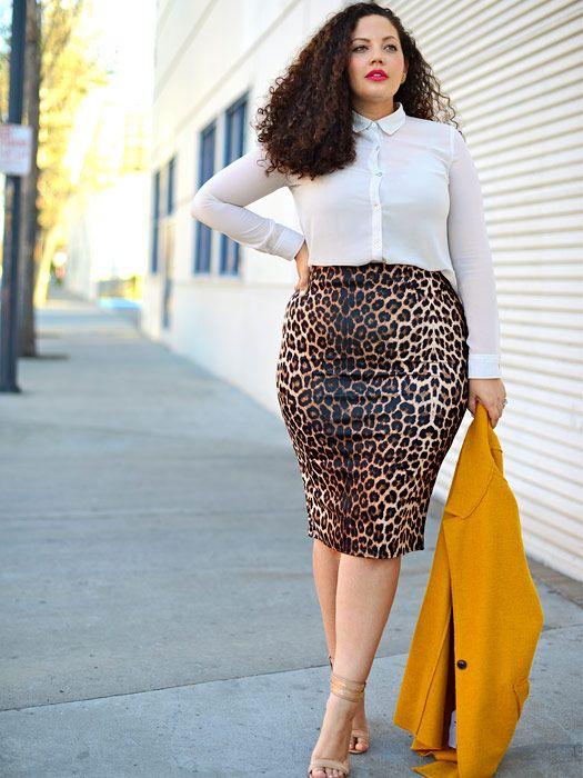 20 Rock Outfits Kombinieren für Frauen in Große Größe