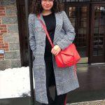 Winter outfits für mollige Frauen Plaid Lange Mäntel Winter Outfits in große größe für mollige Frauen