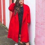 Winter outfits für mollige Frauen Rote lange Mäntel Winter Outfits in große größe für mollige Frauen