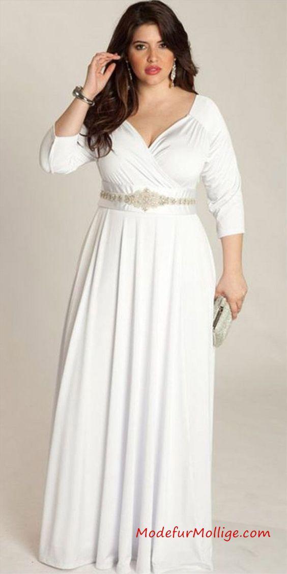 Schöne Langarm Kleider für kurvige damen