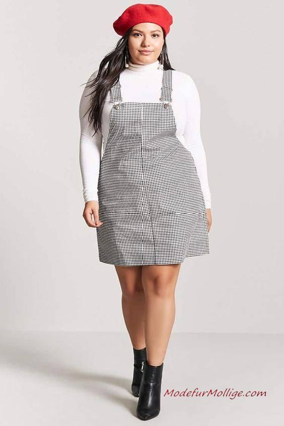 Schicke Jeans Overall Kleid für Mollige Damen | Mode für ...