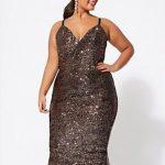 25 Große größen Kleid Ideen für Hochzeitsgäste Midikleid mit Pailletten