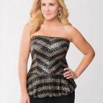 25 Große größen Kleid Ideen für Hochzeitsgäste - Pailletten Bustier
