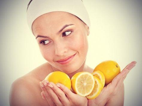 Gesichtsmasken mit Zitrone